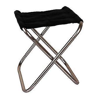 キャンプx525のためのブラックポータブル折りたたみスツールスラッカーチェア屋外折りたたみ椅子