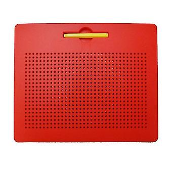 L red plastic steel ball magnetic drawing board children's toy az5181
