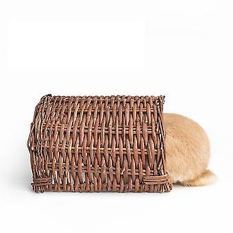 Uusi lemmikki kani pesä marsu häkki käsintehty paju puolikanavan pesä ES4890