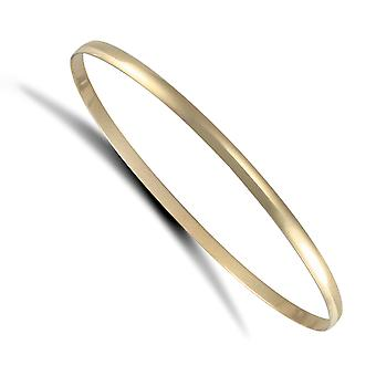Jewelco London Ladies Solid 9ct Yellow Gold D-Shape 3mm Bransoletka bransoletka