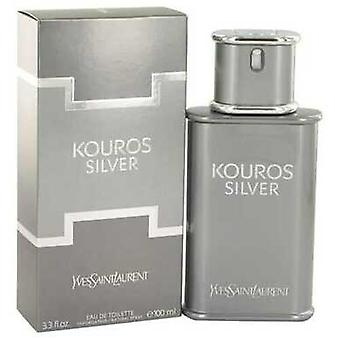 Kouros Silver Kirjoittanut Yves Saint Laurent Eau De Toilette Spray 3.4 Oz (miehet)