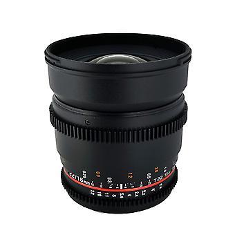 Rokinon cv16m-mft 16mm t2.2 cine wide angle lens for micro 4/3 olympus/panaso...