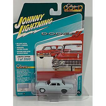 1964 Dodge 330 Light Blue 1:64 Johnny Lightning JLMC022A