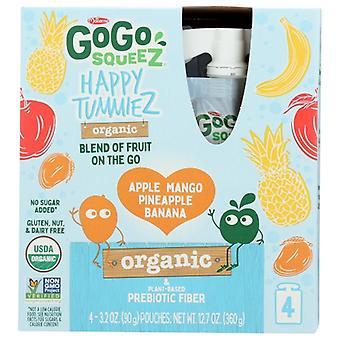 Gogo Squeeze Happy Tummiez Man 4Pk Prb, Case of 6 X 12.7 Oz
