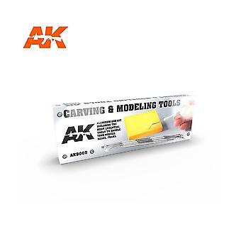 AKインタラクティブ - AK9005彫刻&モデリングツール - モデルクラフトメイキング