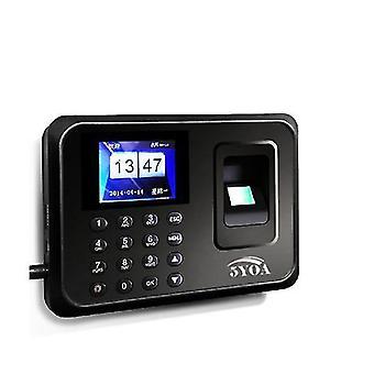 5YOA A01 Biometrische vingerafdruk tijd aanwezigheid klok recorder werknemer digitale elektronische Engels Po