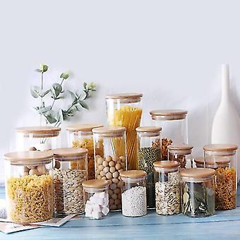 new y5 6.5x20cm kitchen food storage glass jars sealed cans cover spice jars candy tea sm48265