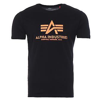 Alpha Industries Reflective Print T-Shirt - Black