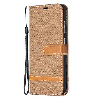 Folio Flip Cover Leather Case For Samsung Galaxy A52 4g/5g Brown Jeans