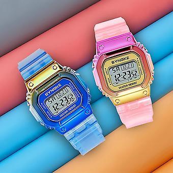 SYNOKE 9622 Gradient Color Watch Case Fashion Style Women Men Luminous Display