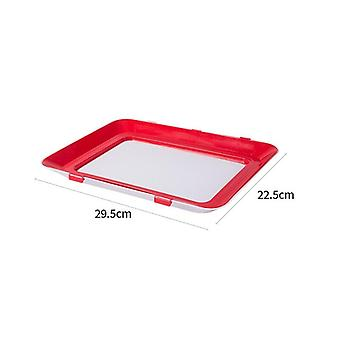 1pcs Tray Creative Fresh Keeping Tray Plastic Food Storage Container Set Food Fresh(red)