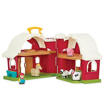 Animal Farm Playset For Toddlers With Horse Cow Sheep Pig And Farmer