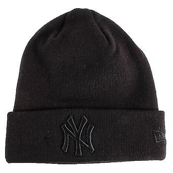 New York Yankees Essential Cuff Beanie - Musta/Musta