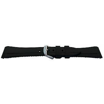 (Schwarz/Weiß) Kautschuk-Uhrenarmband für Rolex GMT Oyster & Omega SeaMaster Schwarz/Weiß 20mm