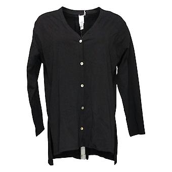 WynneLayers Women's Sweater Reg Button-Front Cardigan Black 741395