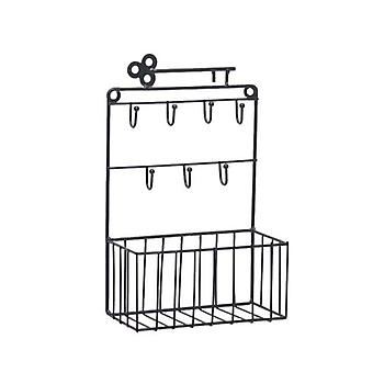 Wall Mounted Mail And Key Holder 7 Hook Rack Organizer Pocket And Letter Sorter For Entryway