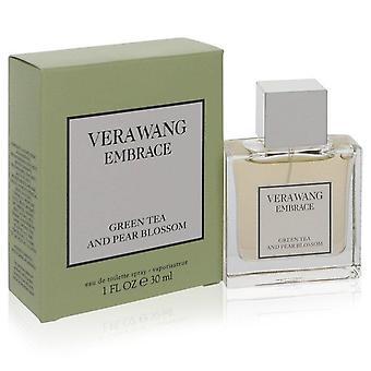 Vera wang omfamna grönt te och päron blomma eau de toilette spray av vera wang 557700 30 ml