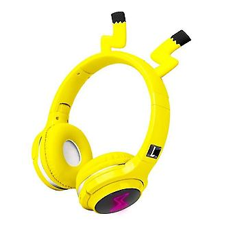 Cute Kids Bluetooth 5.0 Headset 7 Colors Led Headphones Support Sd Card Audio Cable Headphone For