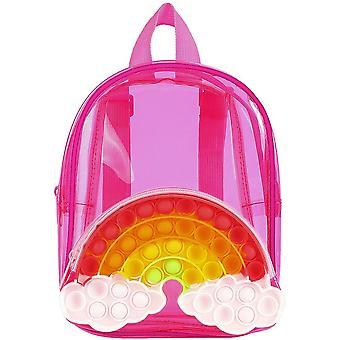 Rainbow Pop Fidget Backpack Kids Push Bubble Toy