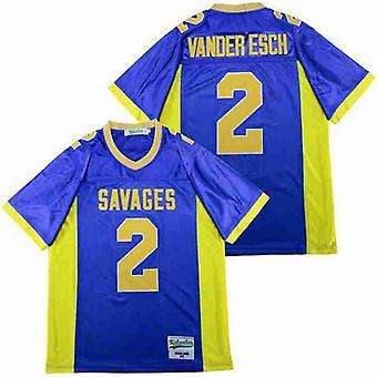 Мужская футболка Лейтон Вандер Эш #2 средней школы, сшитая футболка с длинным рукавом
