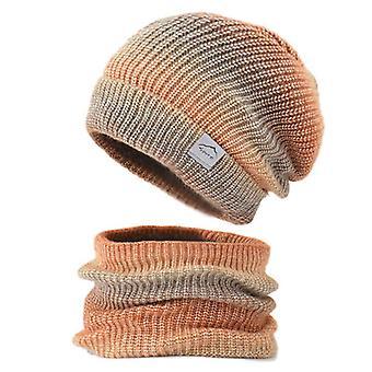 2-piece Set Knitted Hat Neck Warmer Snood