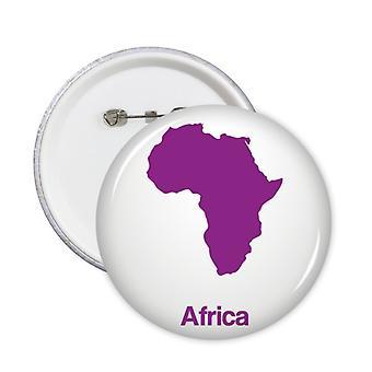 סגול אפריקה מפה תבנית תג כפתור 5pcs