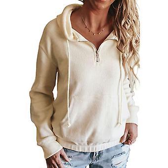 Women's Long Sleeve Hoodie Pullover Sweatshirt Patchwork Jumper