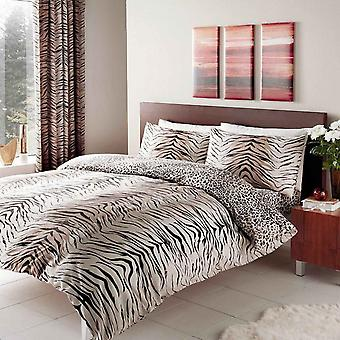 Tiger Skin Print Duvet Cover Bedding Set