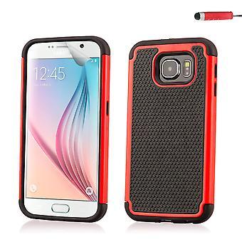 Shock Proof Gehäusedeckel für Samsung Galaxy S6 (SM-G920) - rot