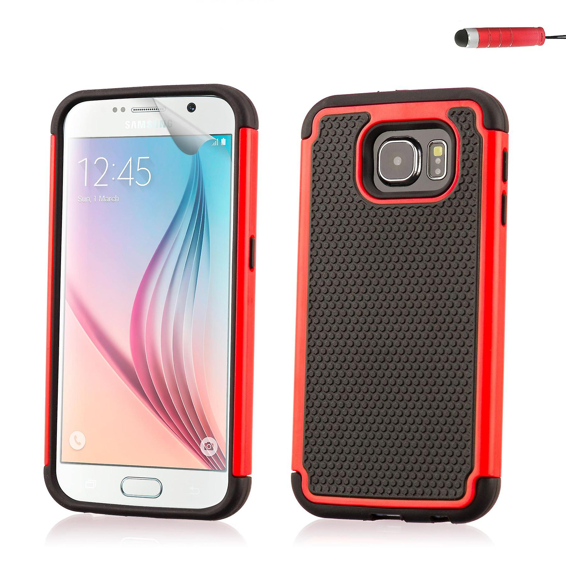 Shock proof case cover for Samsung Galaxy S6 (SM-G920) - Red