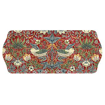 Pimpernel Morris & Co Strawberry Thief Sandwich Tray Red