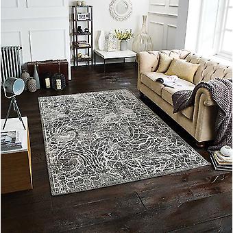 Chloe 506 E grå rektangel tæpper moderne tæpper