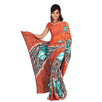 Bindu Georgette gedruckt Casual Sari Sari Bauchtanz Stoff