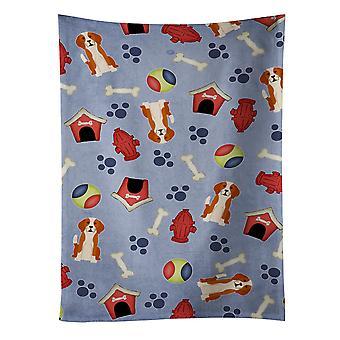 Собака дом коллекции Английский фоксхаунд кухонное полотенце