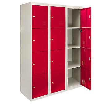 Steel Lockers 4 Portes Métal Personnel stockage Lockable Gym Changing Room School Blue