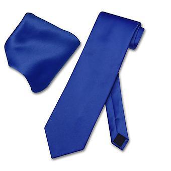 Vesuvio Napoli Solid halsduk & näsduk mäns hals slips Set