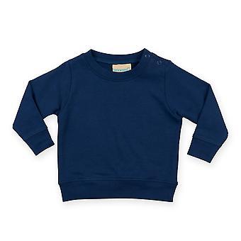 Larkwood Baby Unisex Crew Neck Sweatshirt With Shoulder Poppers