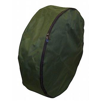 Caravan Spare Wheel Zipped Storage Bag / Cover in waterproof heavy duty canvas material