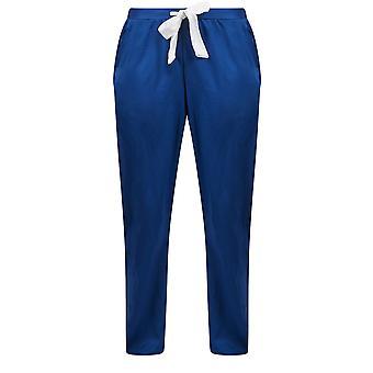 Guy de France 18026-181-097 Women's Blue Solid Colour Pajama Pyjama Pant