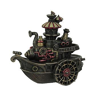 Hand Painted Steampunk Style Airship Gondola Statue