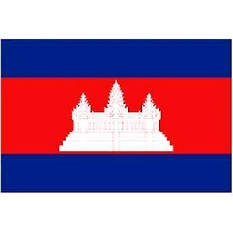 Cambodjaanse vlag 5 ft x 3 ft met oogjes voor verkeerd-om