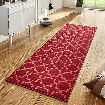 Design velour carpet runners bridge Glam Red
