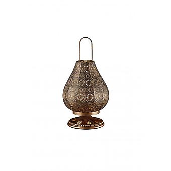 Трио освещения жасмина Винтаж Античная медь металла настольная лампа