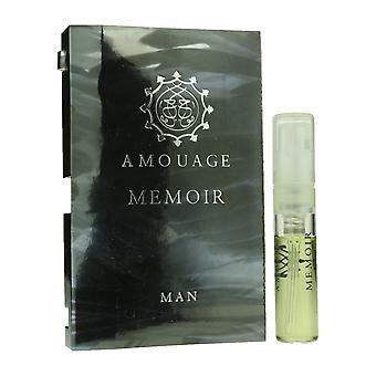 """Amouage """"Memoiren"""" Eau De Parfum Spary für Mann 0,05 oz gekrempelt Vial(OriginalFormula)"""