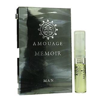 Amouage 'Gedenkschrift' Eau De Toilette Spary voor Man 0,05 oz gekaard Vial(OriginalFormula)