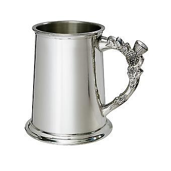 Thistle handvat Pewter Tankard - 1 pint
