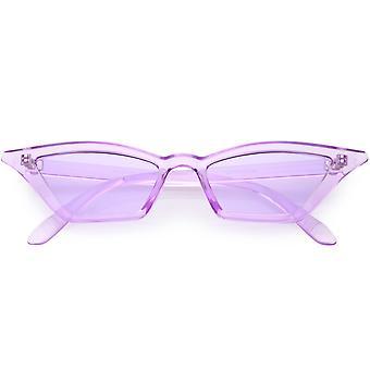 Doorschijnend Retro Cat Eye zonnebril voor vrouwen kleur getint Lens 50mm