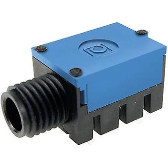 Cliff FC67815 6.35 mm audiohefboom Socket, horizontale mount aantal pins: 2 Mono Black 1 PC('s)