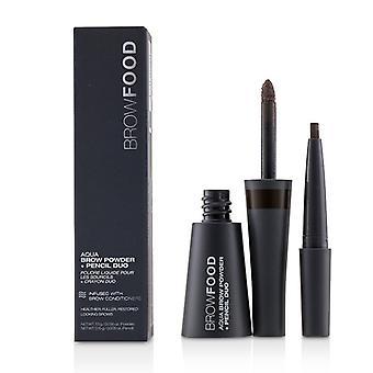 Lashfood Browfood Aqua Brow Powder + Pencil Duo - # Dark Brunette - -
