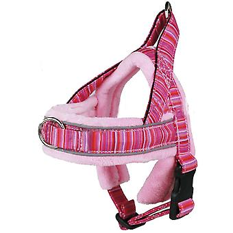 MNC Pet S4 Padded Harness for Dogs Soft Fleece Padding, Pink